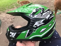 Green typhoon dirt bike helmet with removable lid Farmington Hills, 48336