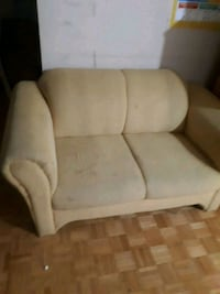 white and brown fabric sofa chair Toronto, M1G 1R8