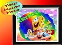 Personalized Spongebob & Friends Framed Wall Sign Essex