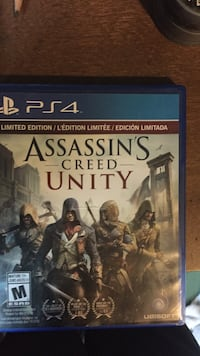 Assassin's Creed Unity PS4 game case
