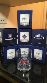 Cubs Jim Beam Acrylic Cocktail Glass Chicago, 60613