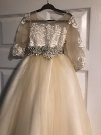 Satin Silver Sash- Rhinestones and Pearls Yonkers, 10710