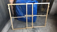 Pressure mounted dog gate