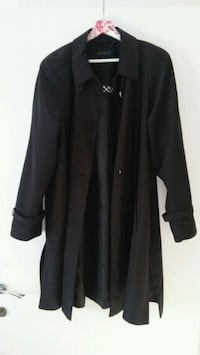 Trench coat a maniche lunghe button-up nero Casalecchio di Reno, 40033