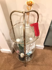 End Table - 3-Tier Round Glass Arlington