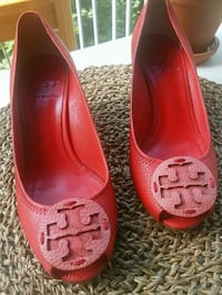 Tory Burch Leather Red Wedges Toronto, M8V 2M1