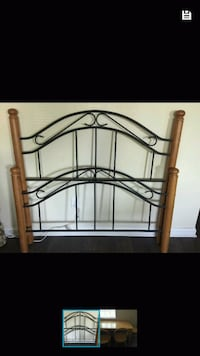 Double headboard, footboard and rails 298 mi