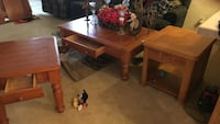 three brown wooden tables Center, 75935