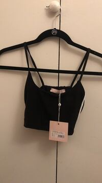 Brand New Missguided Black Sporty Bralet size 0 US