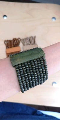 Green stretch cuff bracelet New Westminster, V3M 0A9
