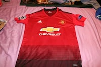 red and black Adidas jersey shirt St. Louis, 63116