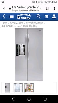 stainless steel side by side refrigerator with dispenser Las Vegas, 89115