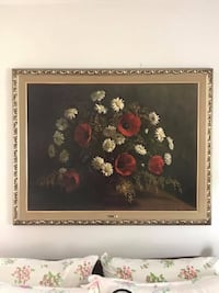 Large print floral print with beautiful gold. Great condition! Smoke free home. Great for living room or any large wall!  New York, 11430