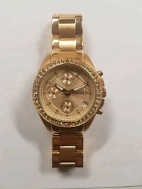 Womens/Ladies Rose Gold Fossil Watch With Crystals Toronto, M8W 3P6