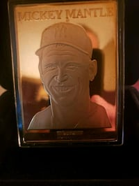 Mickey Mantle Gold Baseball Card