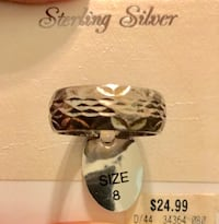 Sterling silver unisex Band Ring size 8 Johnstown, 43031