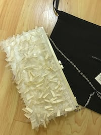 Great gift - BCBG white clutch OBO  Los Angeles, 91403