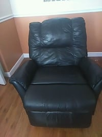 black leather sofa chair with ottoman Tampa, 33619