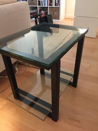 rectangular black wooden framed glass top table Arlington, 22201