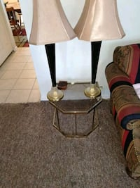 brown and white table lamp 155 km
