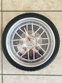 Tire clock that flashes blue and red  Barrie