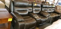 sofa + loveseat recliner set . Real leather   Clifton