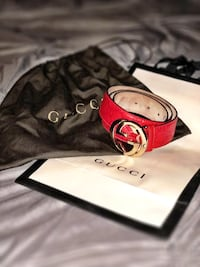 ec75672eaa0 Used Authentic Guccissima belt (Red) for sale in San Diego - letgo