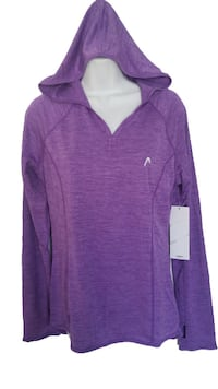 nwt Activewear Hooded Top purple L Burnaby