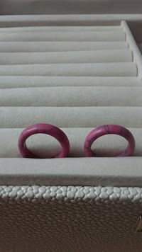 Pink Soapstone Band Rings, Women's Rings