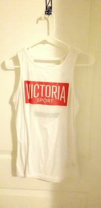 white and red Victoria Sport tank top