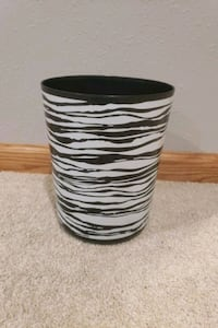 Zebra striped trash can Des Moines, 50320