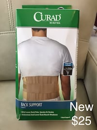 "New Curad Back Support, fits 33"" to 48"""
