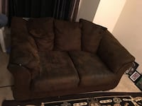 brown suede 3-seat sofa Upper Marlboro, 20772