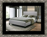 Grey platform bed with mattress & free delivery  McLean