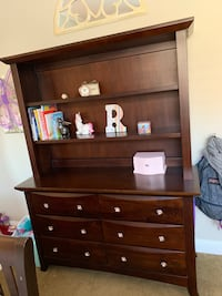 Girls double bed sized bedroom set. Not selling mattress. From Goore's. 8 yrs old. Good condition, some scratched and general wear and tear. Knobs are from Anthropologie. No holds please. Rocklin, 95677