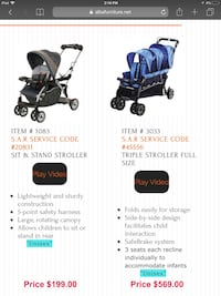 baby's blue and black travel system Hackensack, 07601