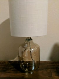 clear glass base white shade table lamp Lakewood, 80226