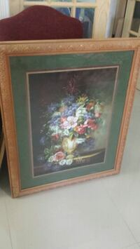 brown wooden framed painting of flowers Mission, 78573