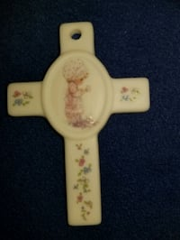 Vtg Precious moments cross pendant