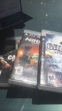 black ops 1, mine craft, call of duty :world at war for PS3 San Jose, 95123