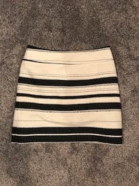 White, black, stripe skirt size 4 Chicago, 60613