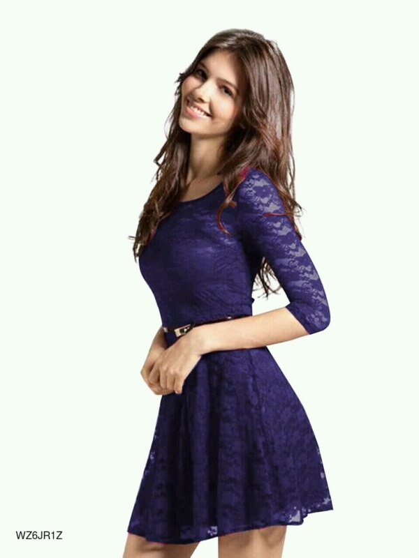 women's purple dress