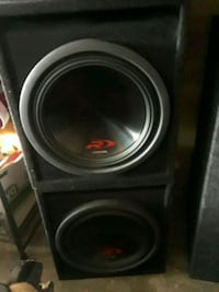 Like new Alpine type R 's dual 2 ohm with amp Louisville, 40272