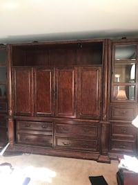 Brown wooden cabinet with drawer 779 mi