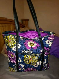 black, pink, and green floral tote bag Broken Arrow, 74011