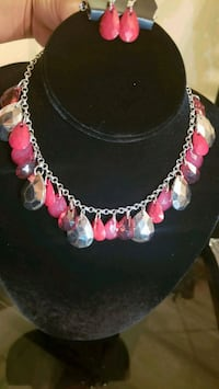 silver and pink beaded necklace Los Angeles, 91303