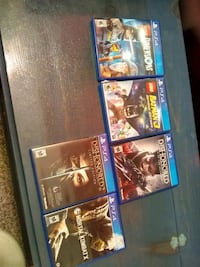 four Sony PS4 game cases Angleton, 77515