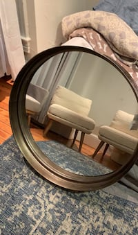 Large gold and bronze mirror