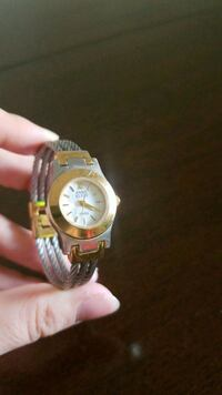 round gold-colored analog watch with link bracelet Imperial, 92251