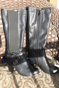 Faux leather boots size 8